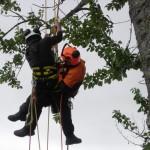 Arial rescue practice